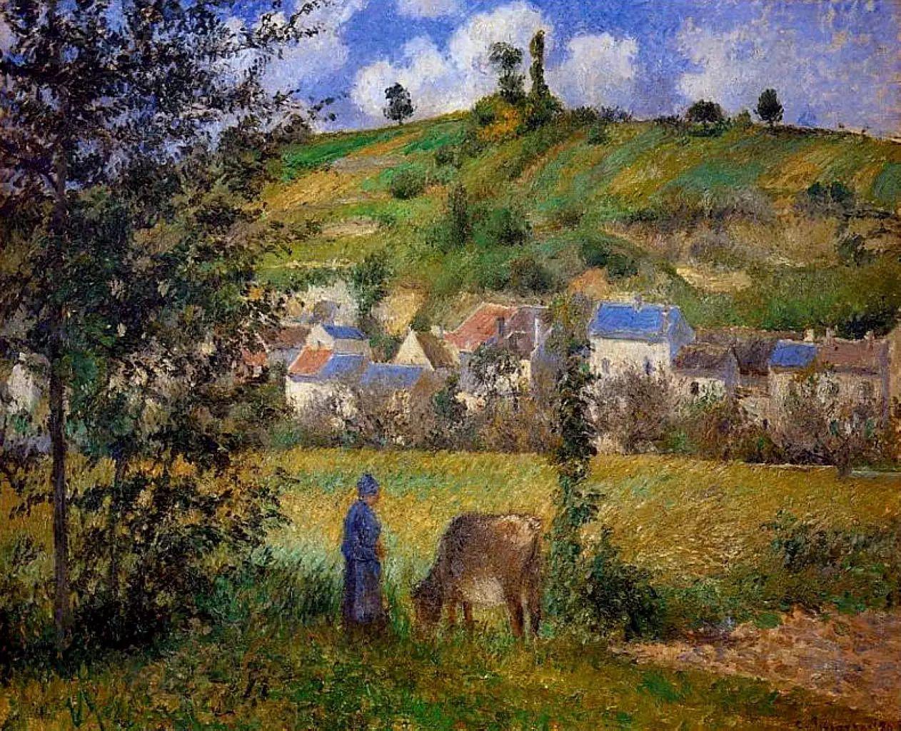 法国印象派画家卡米耶·毕沙罗油画作品插图39