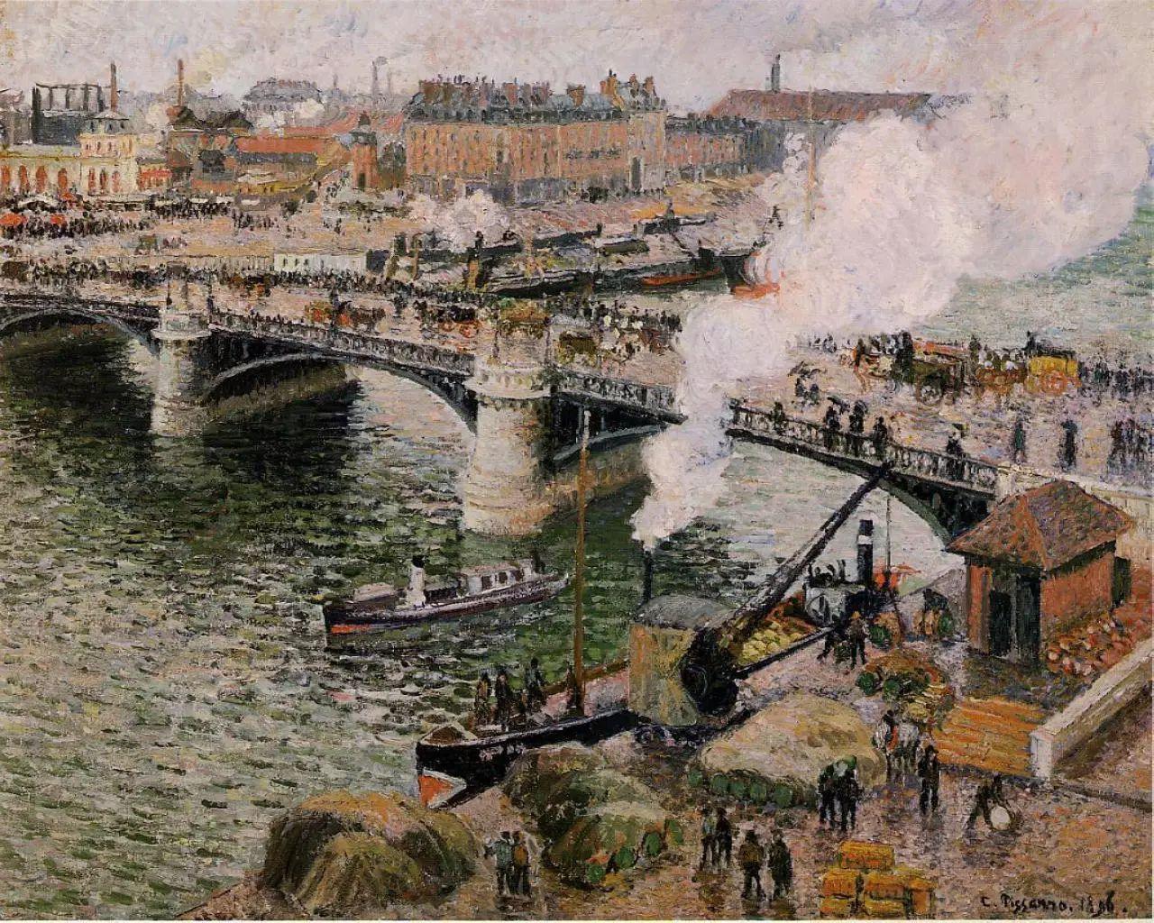 法国印象派画家卡米耶·毕沙罗油画作品插图43
