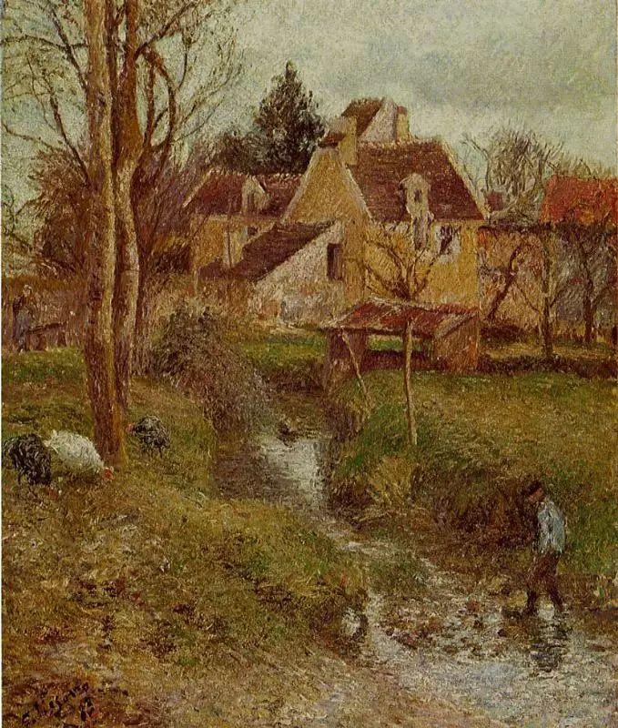法国印象派画家卡米耶·毕沙罗油画作品插图55