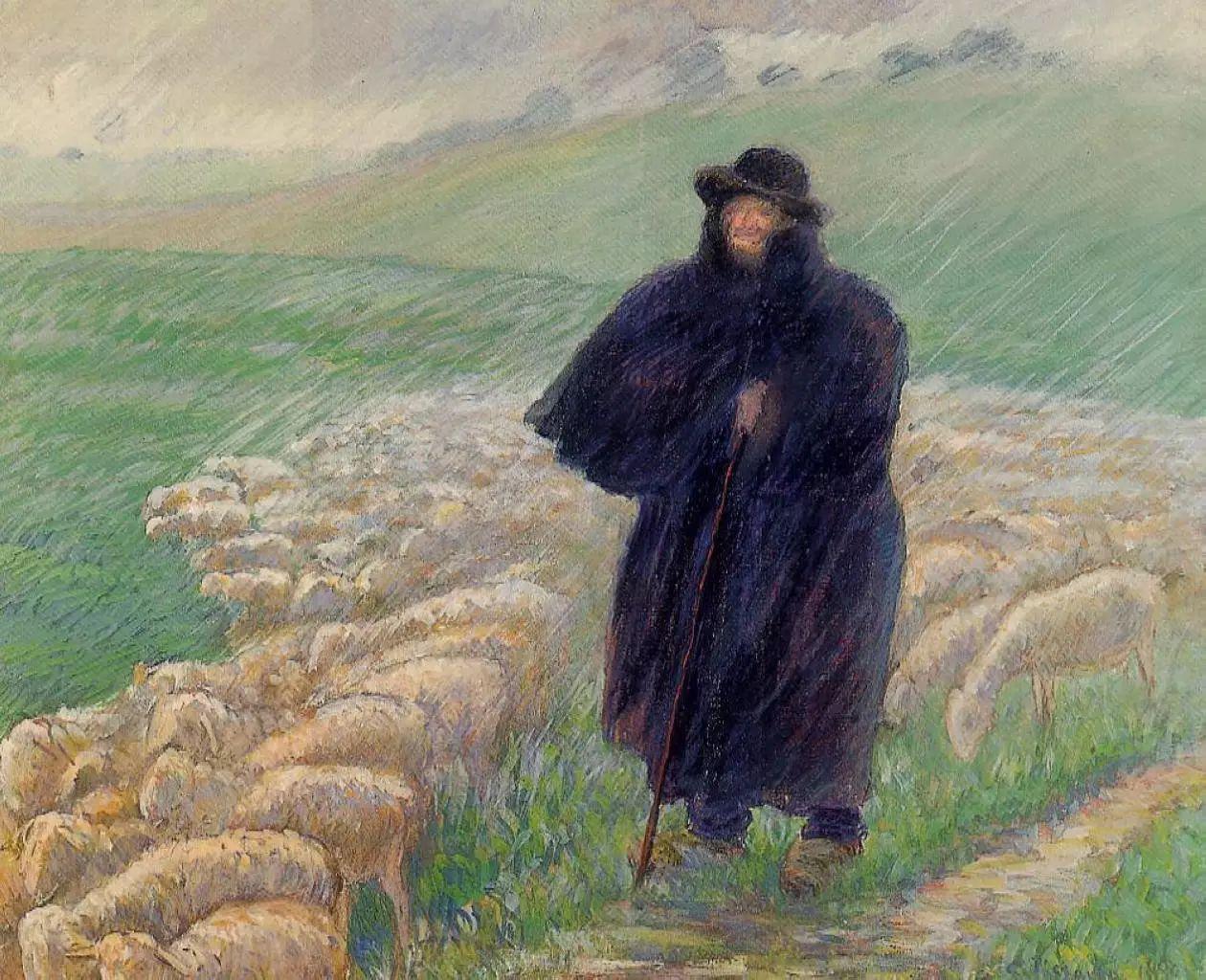 法国印象派画家卡米耶·毕沙罗油画作品插图61