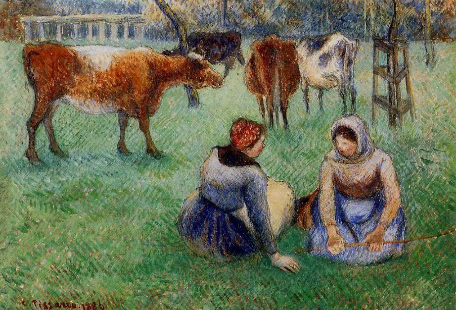 法国印象派画家卡米耶·毕沙罗油画作品插图63