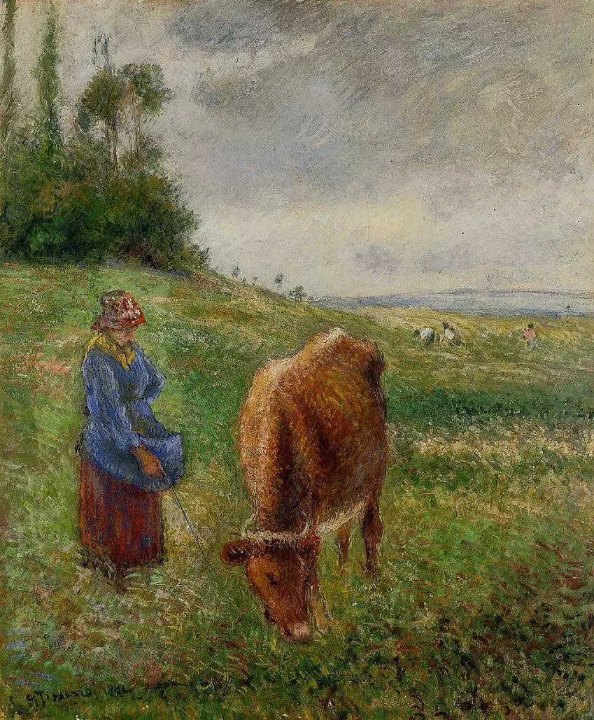 法国印象派画家卡米耶·毕沙罗油画作品插图81