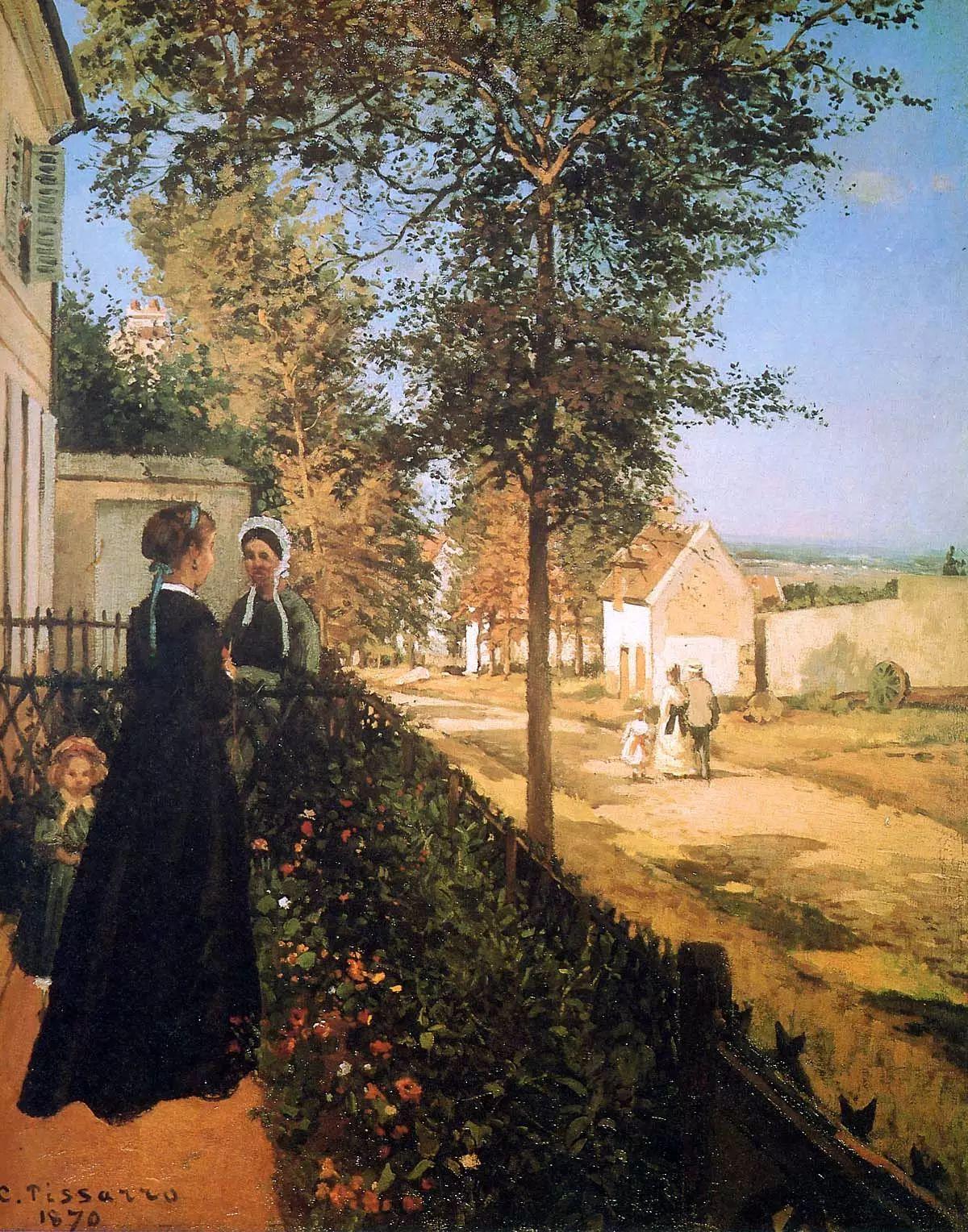 法国印象派画家卡米耶·毕沙罗油画作品插图83