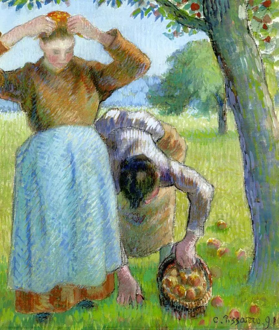 法国印象派画家卡米耶·毕沙罗油画作品插图97