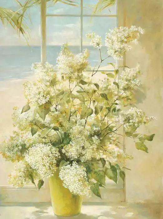 细嗅花间的美好 法国画家Fabrice de Villeneuve插图9