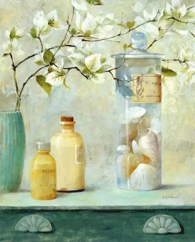 细嗅花间的美好 法国画家Fabrice de Villeneuve插图13