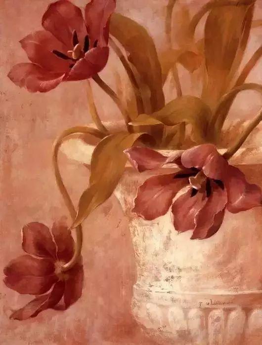 细嗅花间的美好 法国画家Fabrice de Villeneuve插图21