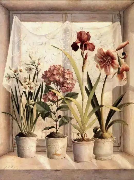 细嗅花间的美好 法国画家Fabrice de Villeneuve插图31