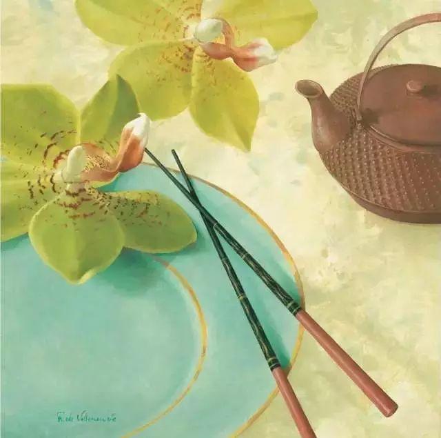 细嗅花间的美好 法国画家Fabrice de Villeneuve插图35