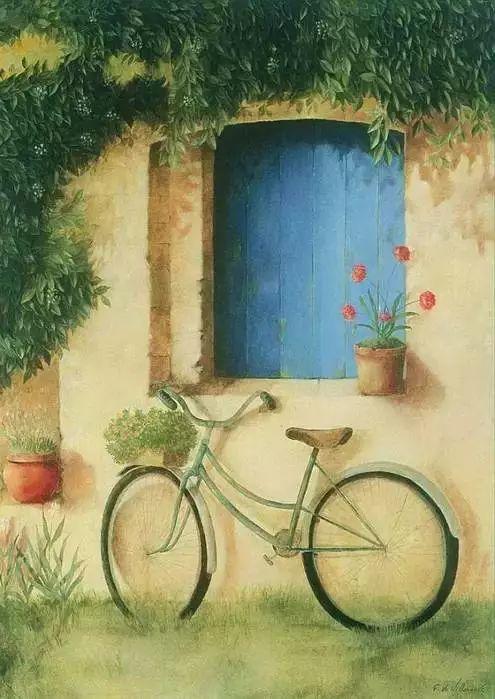 细嗅花间的美好 法国画家Fabrice de Villeneuve插图91