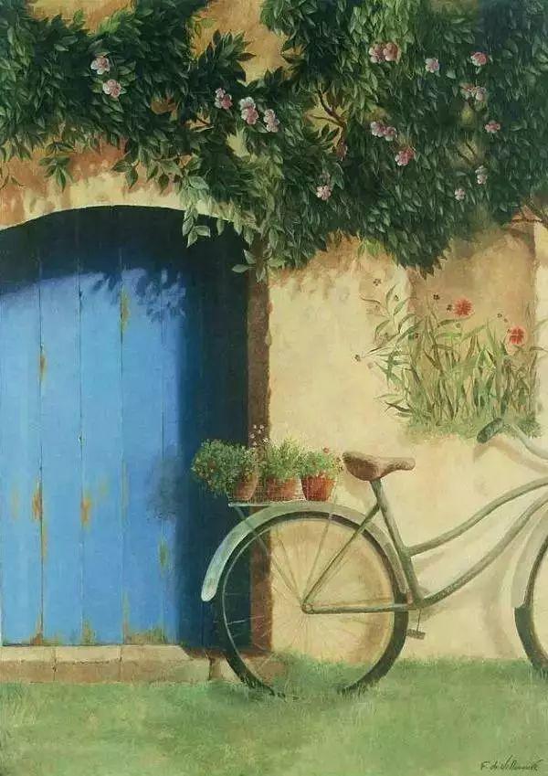 细嗅花间的美好 法国画家Fabrice de Villeneuve插图101