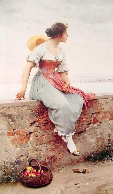 意大利古典主义画家Eugene de Blaas作品插图3