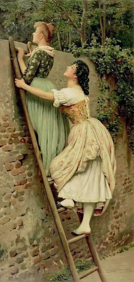 意大利古典主义画家Eugene de Blaas作品插图5