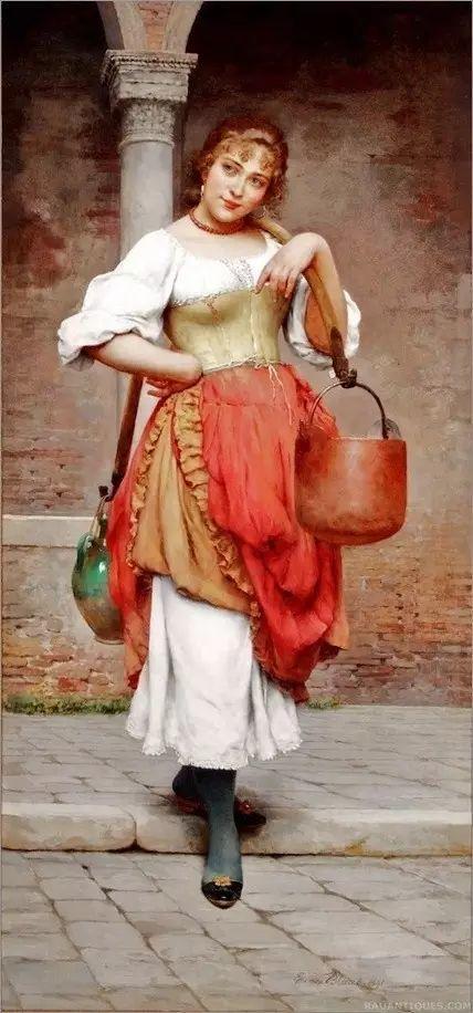 意大利古典主义画家Eugene de Blaas作品插图9