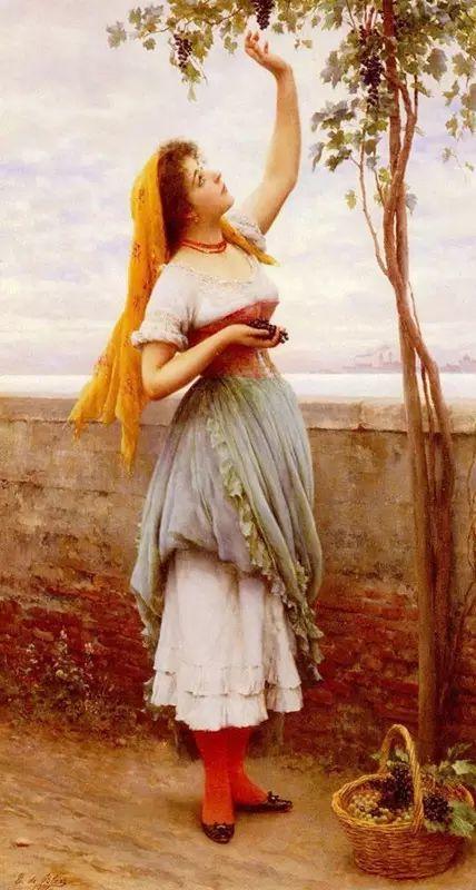 意大利古典主义画家Eugene de Blaas作品插图13