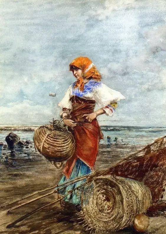 意大利古典主义画家Eugene de Blaas作品插图15