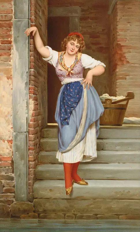 意大利古典主义画家Eugene de Blaas作品插图17