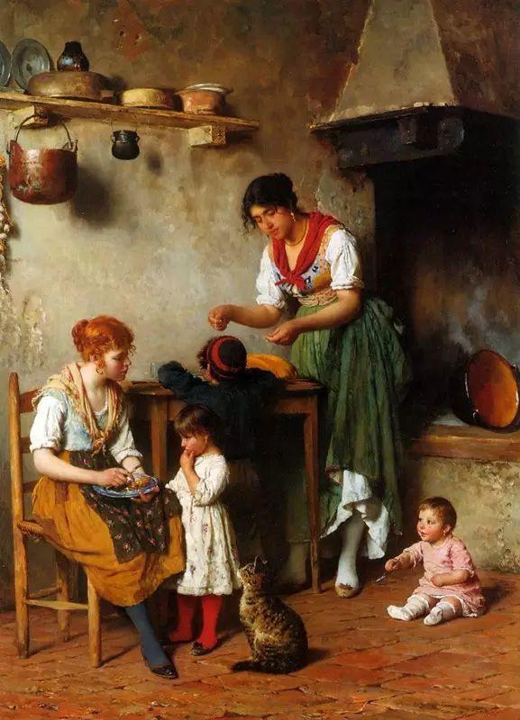 意大利古典主义画家Eugene de Blaas作品插图21