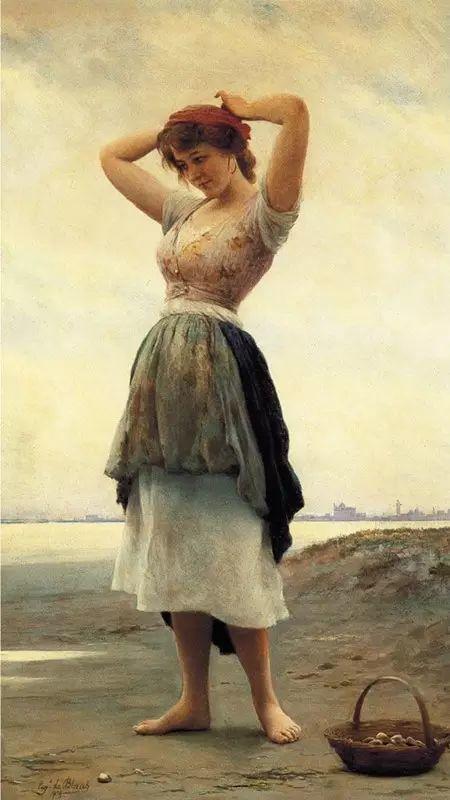 意大利古典主义画家Eugene de Blaas作品插图23