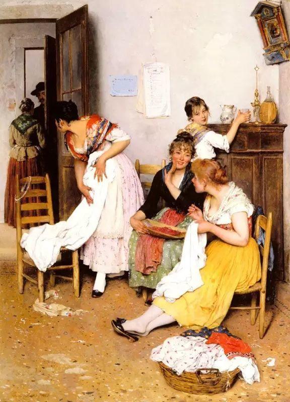 意大利古典主义画家Eugene de Blaas作品插图27