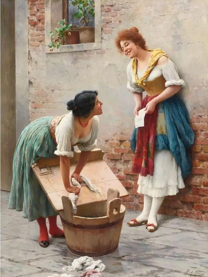 意大利古典主义画家Eugene de Blaas作品插图29