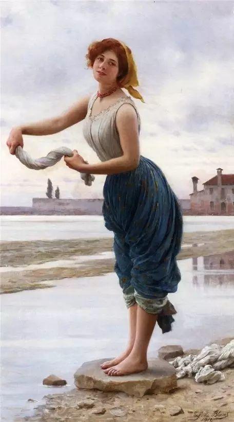 意大利古典主义画家Eugene de Blaas作品插图31