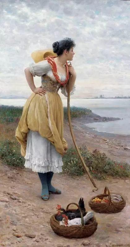 意大利古典主义画家Eugene de Blaas作品插图35