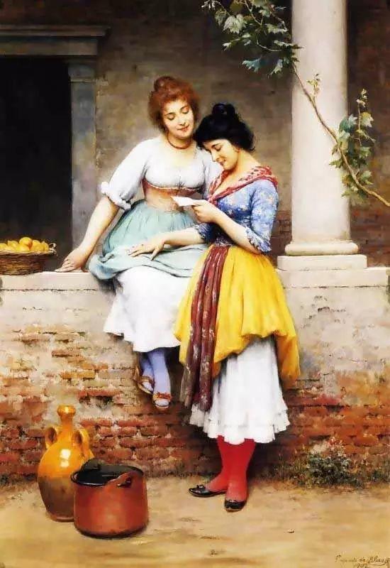 意大利古典主义画家Eugene de Blaas作品插图37