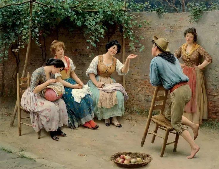 意大利古典主义画家Eugene de Blaas作品插图39