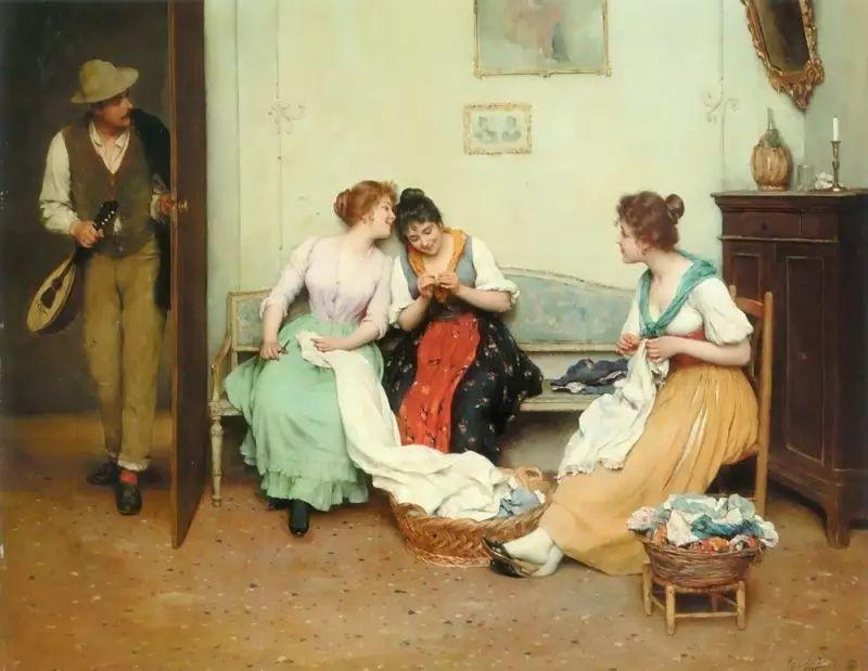 意大利古典主义画家Eugene de Blaas作品插图41