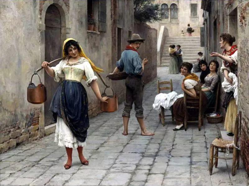 意大利古典主义画家Eugene de Blaas作品插图43