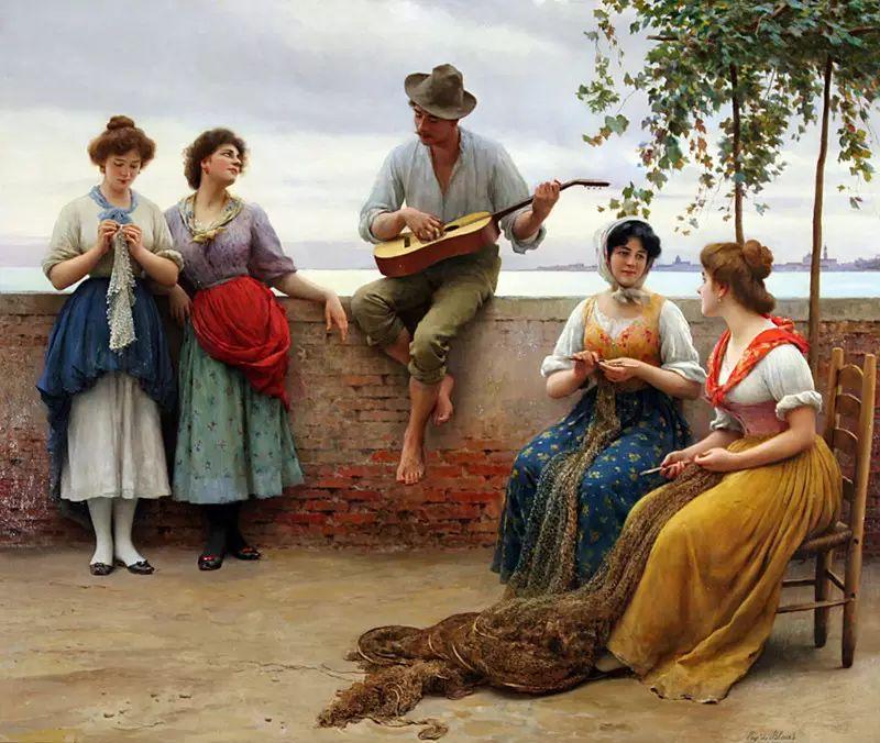 意大利古典主义画家Eugene de Blaas作品插图45