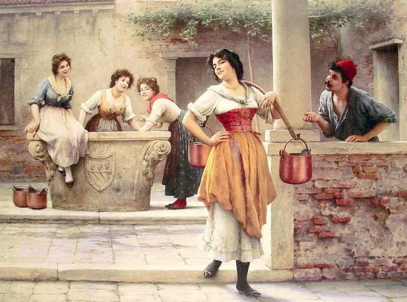 意大利古典主义画家Eugene de Blaas作品插图47