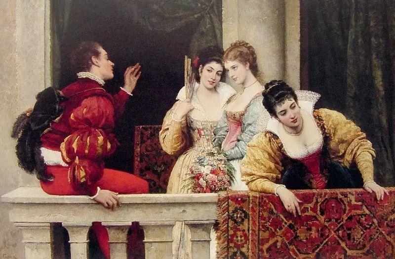 意大利古典主义画家Eugene de Blaas作品插图49
