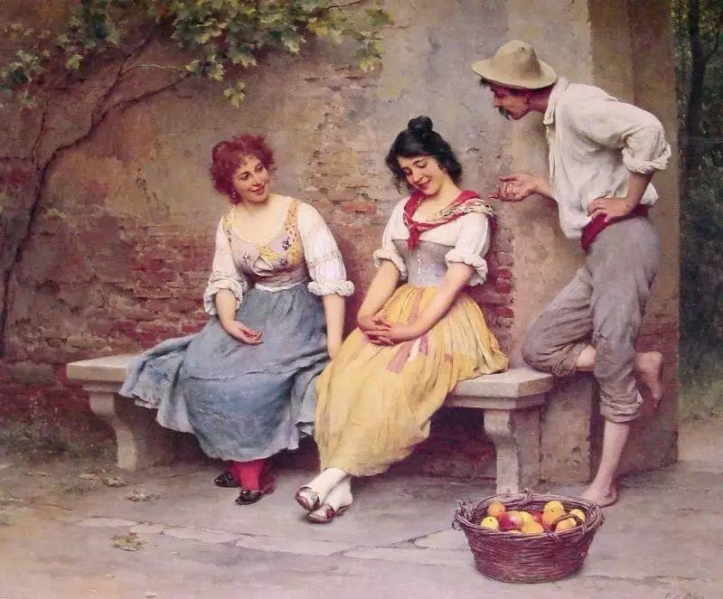 意大利古典主义画家Eugene de Blaas作品插图53