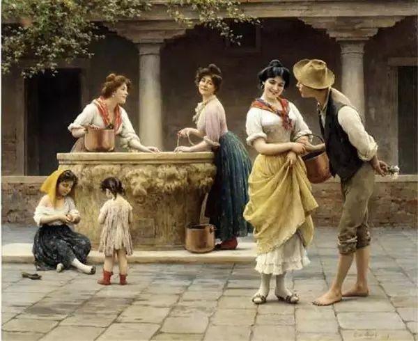 意大利古典主义画家Eugene de Blaas作品插图55