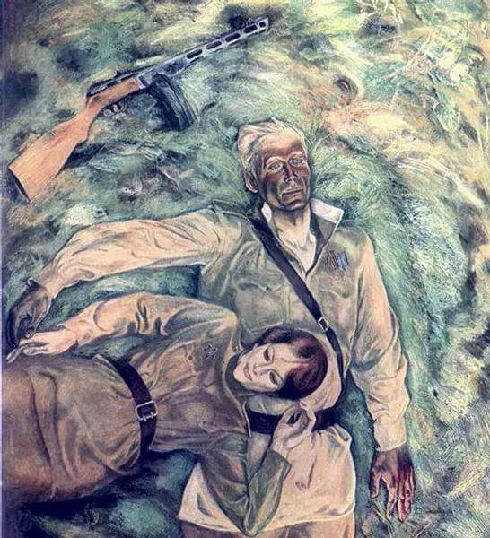 俄罗斯二战题材油画插图