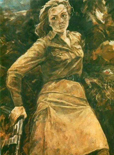 俄罗斯二战题材油画插图1