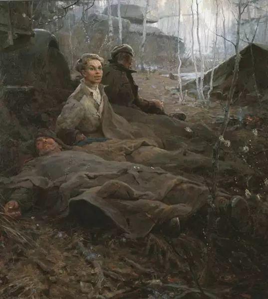 俄罗斯二战题材油画插图3