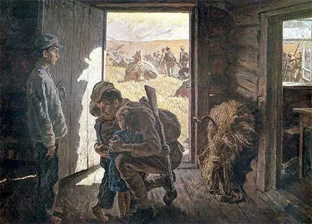 俄罗斯二战题材油画插图5