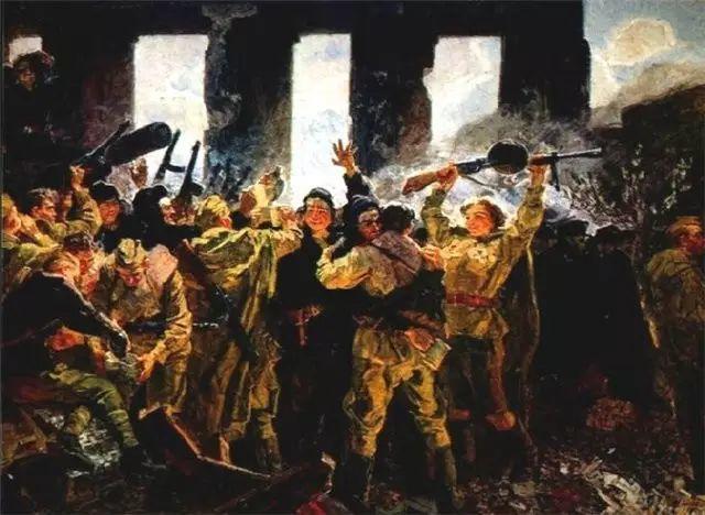 俄罗斯二战题材油画插图7