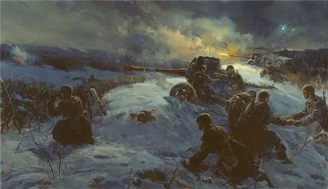 俄罗斯二战题材油画插图8