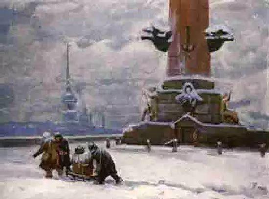 俄罗斯二战题材油画插图10
