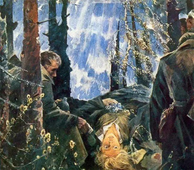 俄罗斯二战题材油画插图13