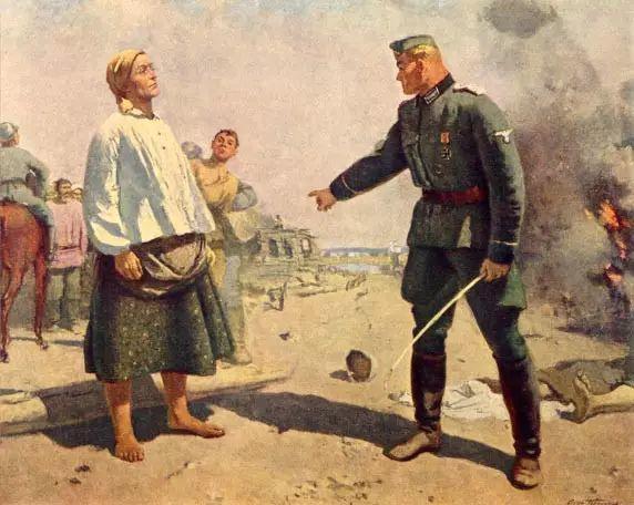 俄罗斯二战题材油画插图15