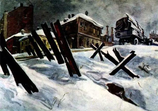 俄罗斯二战题材油画插图18