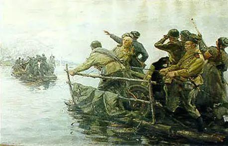俄罗斯二战题材油画插图23