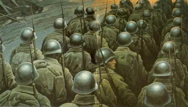 俄罗斯二战题材油画插图24