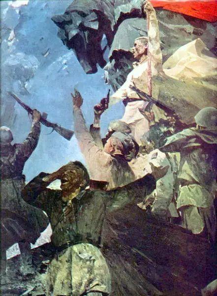 俄罗斯二战题材油画插图27