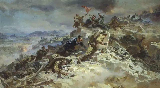 俄罗斯二战题材油画插图31